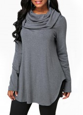 Long-Sleeve-Cowl-Neck-Grey-Sweatshirt