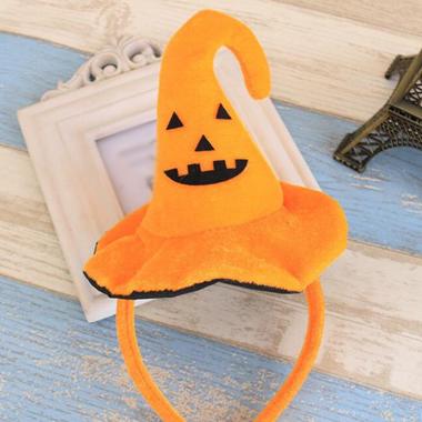 Witch Hat Decoration Orange Halloween Hair Band