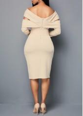 wholesale Off the Shoulder Zipper Back Sheath Dress