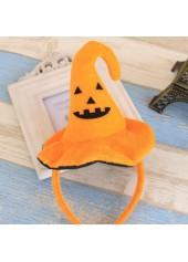 Witch-Hat-Decoration-Orange-Halloween-Hair-Band
