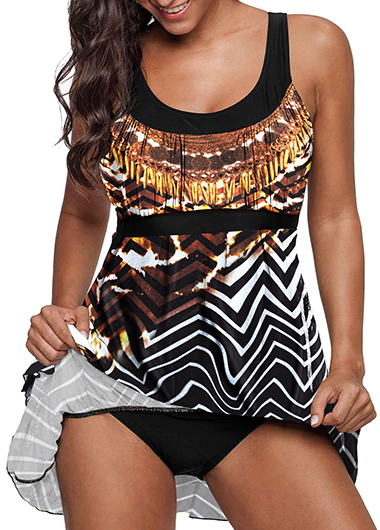 Scoop Back Layered Swimdress and Panty