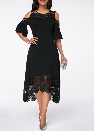 5b091bb850d1f V Back Strappy Cold Shoulder Red Dress | Rotita.com - USD $31.52