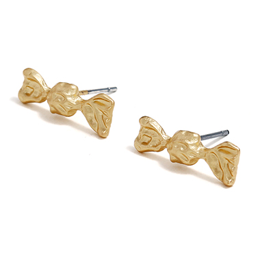 Candy Shape Gold Metal Ear Studs for Lady
