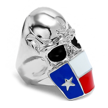 Silver Skeleton Shape Metal Star Design Ring