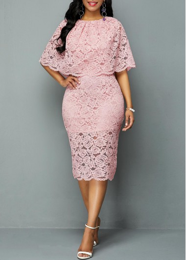 8670c7d4dd Belted High Waist Lace Panel Maxi Dress | Rotita.com - USD $46.79