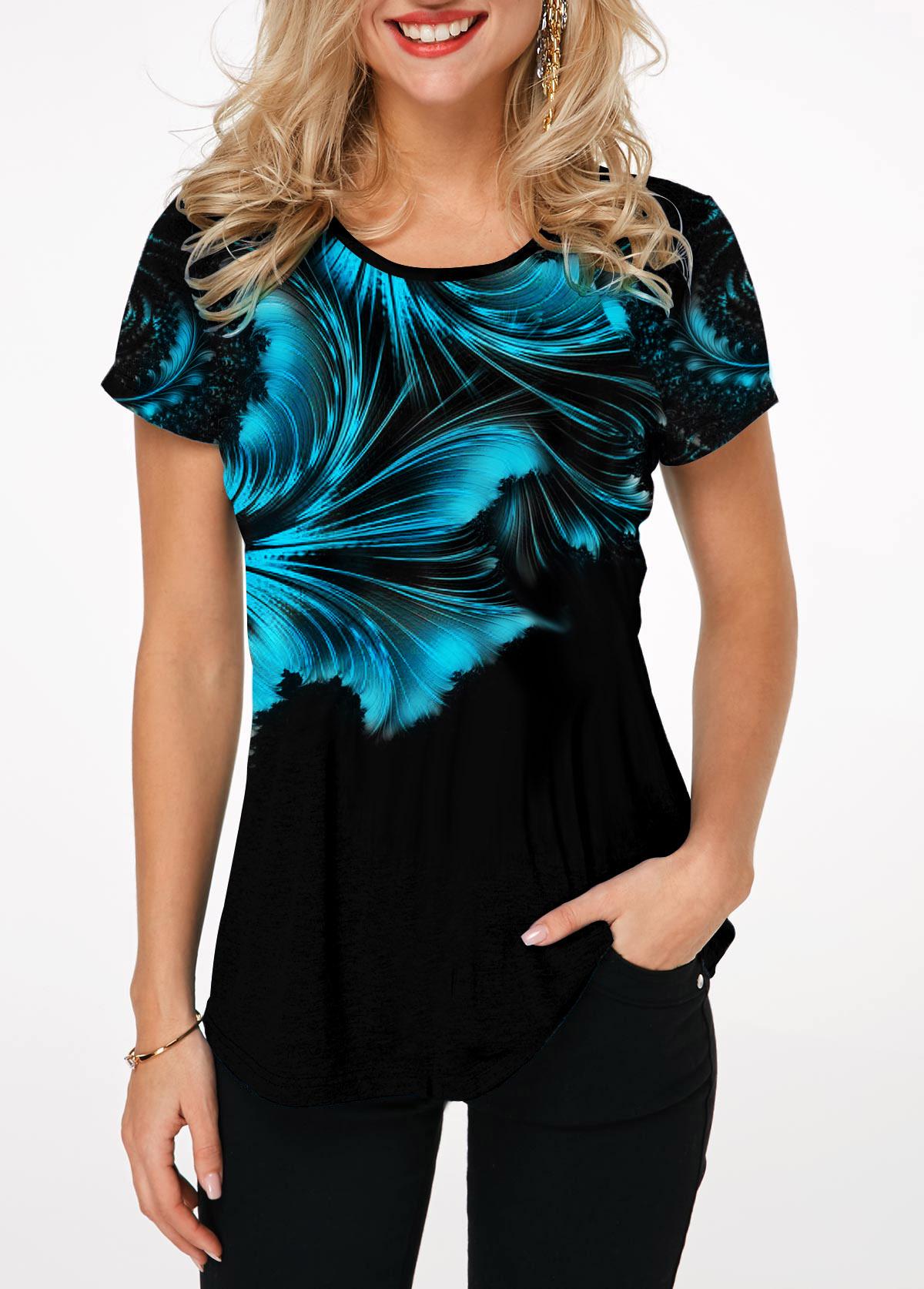 Short Sleeve Round Neck Printed T Shirt