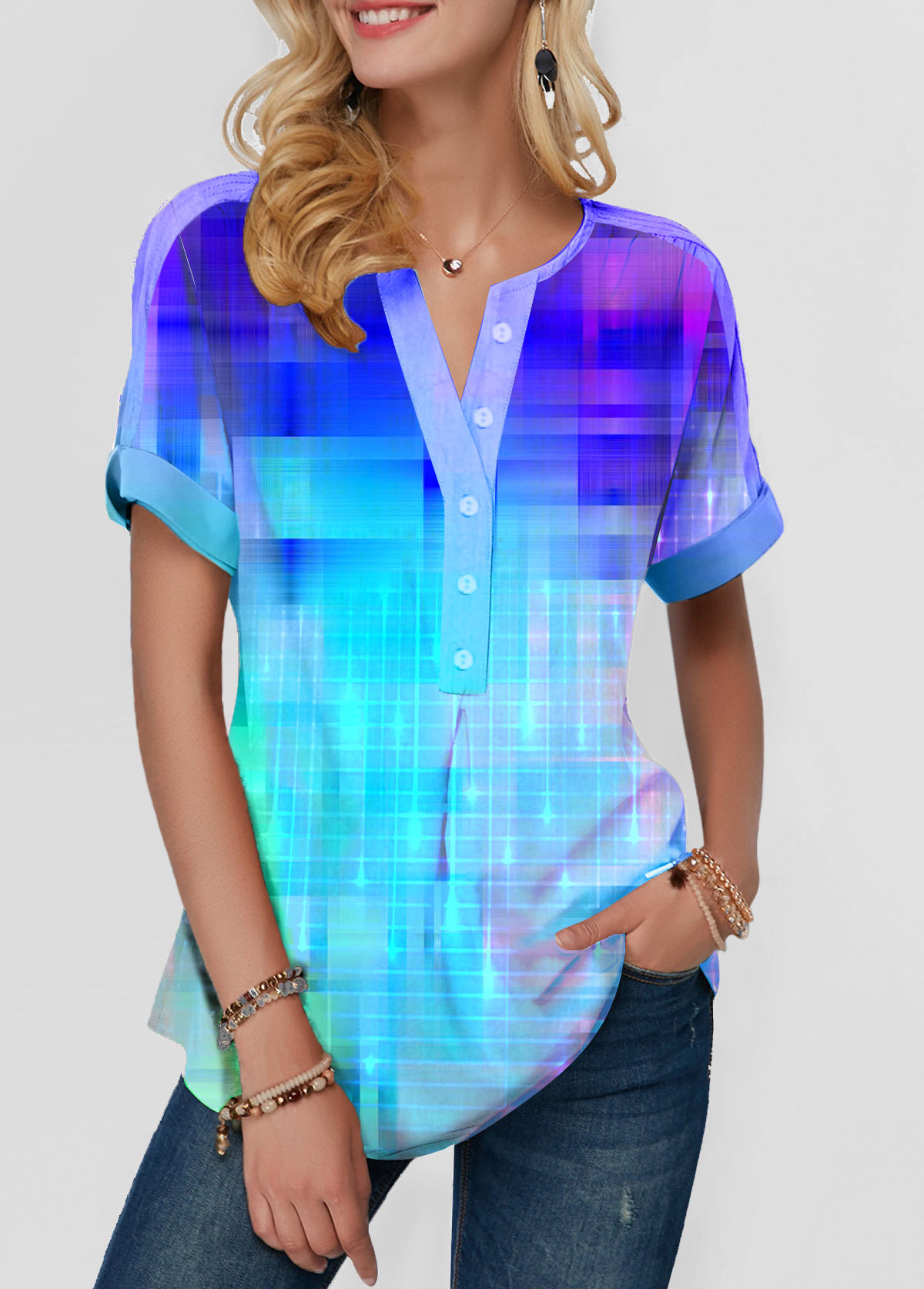 Short Sleeve Starlight Blue T Shirt