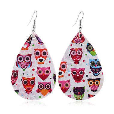 Animal Print Plastic Multi Color Earring Set