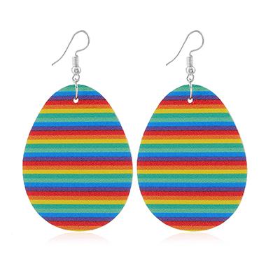 Multi Color Easter Plastic Earring Set