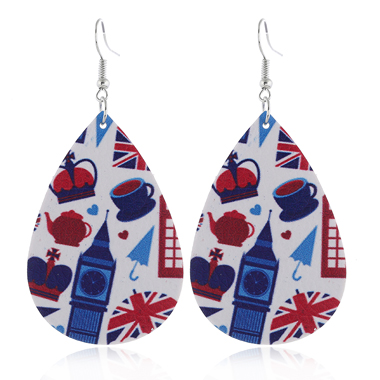 Color Block Flag Day Earring Set