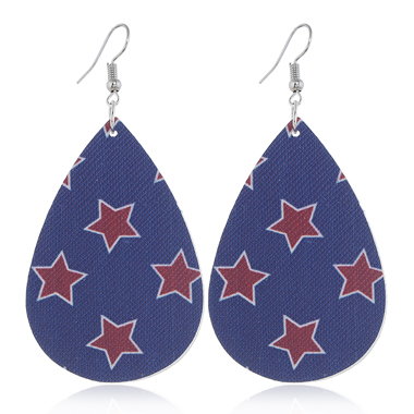 Flag Day Starry PrintEarring Set