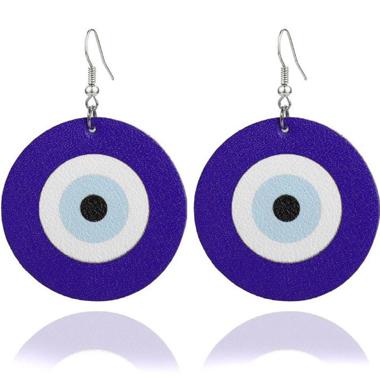Archery Target Funny Purple Earring Set