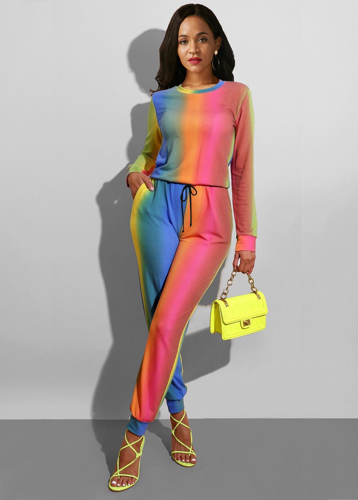 ROTITA Long Sleeve Multi Color Sun Protection Jumpsuit