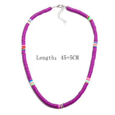 1pc Purple Ethnic Style Necklace for Lady