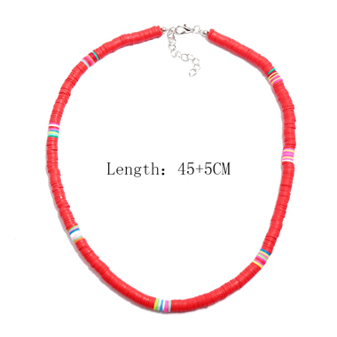 1pc Red Ethnic Style Necklace for Lady