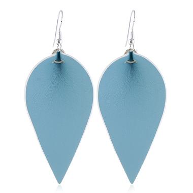 Leaf Shaped Blue Earring Set for Women