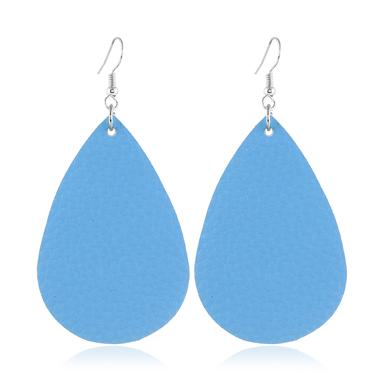 Teardrop Shaped Blue Drop Earrings Set
