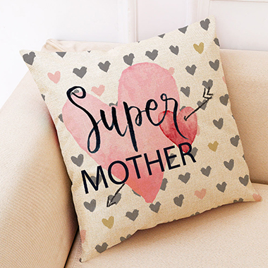 1pc 45 X 45cm Letter Print Pillow Cover Without Filler