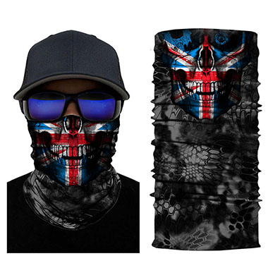 American Flag Print Skeleton Digital Bandanas