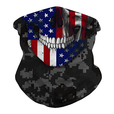 Neck Tube Army Green American Flag Print Bandanas