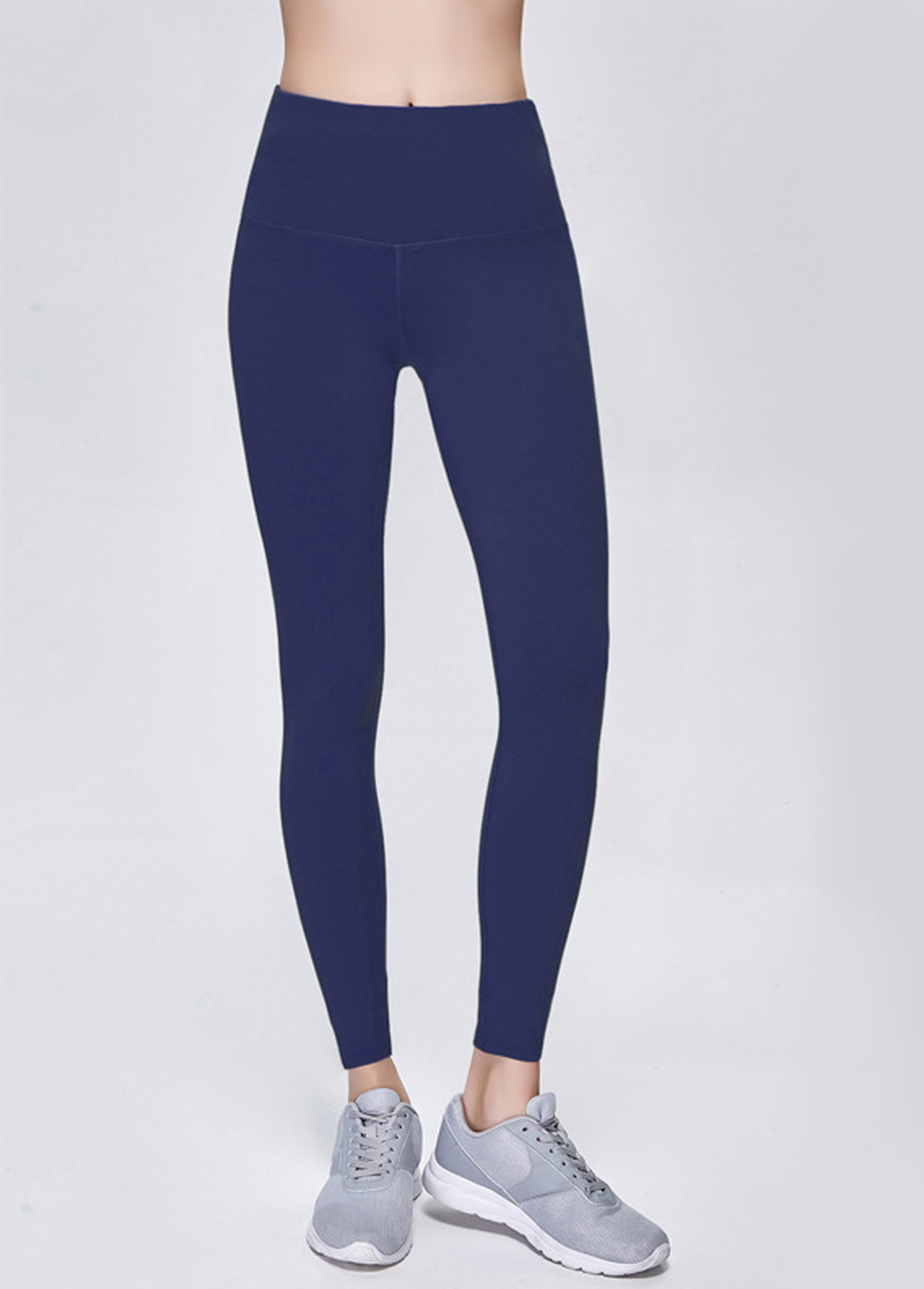 Navy Blue High Waist Elastic Quick Drying Yoga Pants
