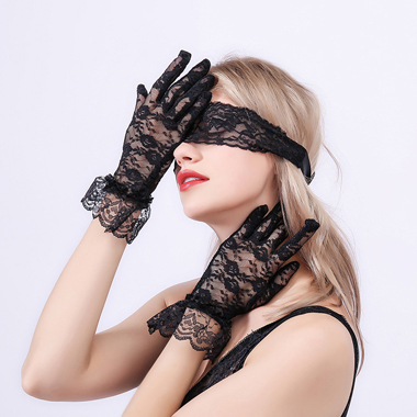 Lace Black Patch and Gloves