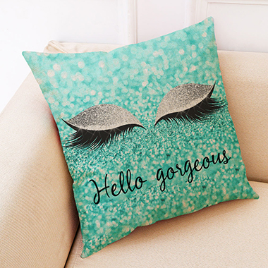 1pc 45 X 45cm Letter Print Pillow Case