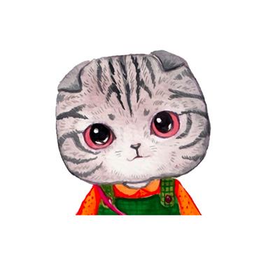 Cat Design 28 X 27.5cm Wall Sticker