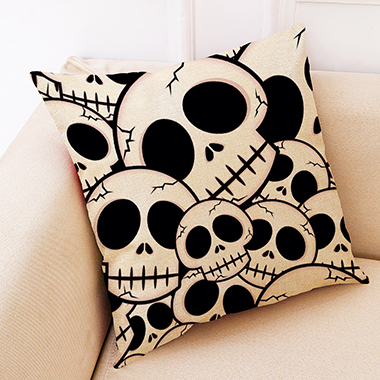 1pc 45 X 45cm Skull Print Pillow Case