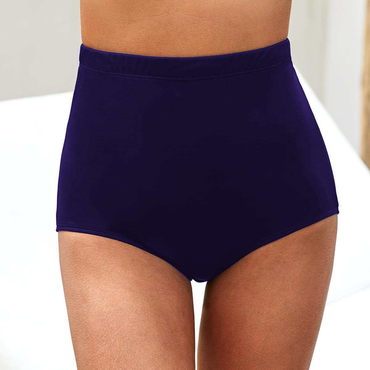 ROTITA Navy Blue High Waist Swimwear Panty