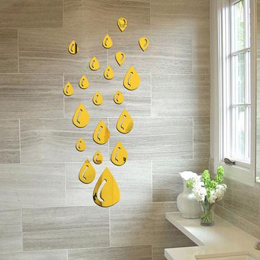 20pcs Beads Design Glass 3D Sticker Set