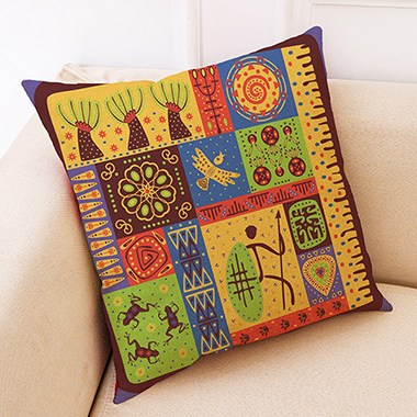 1pc 45 X 45cm Tribal Print Yellow Pillow Case