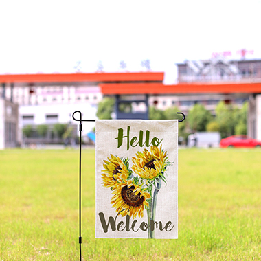 Letter and Sunflower Print 30 X 45cm Garden Flag