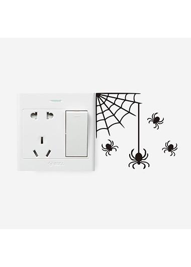1pc 13.9 X 14.5cm Halloween Spider Black Sticker