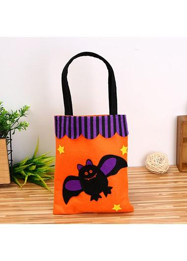 Halloween   Orange   Tote   Bat   Bag