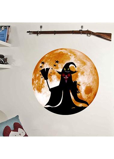 1pc Halloween Ghost Orange Sticker