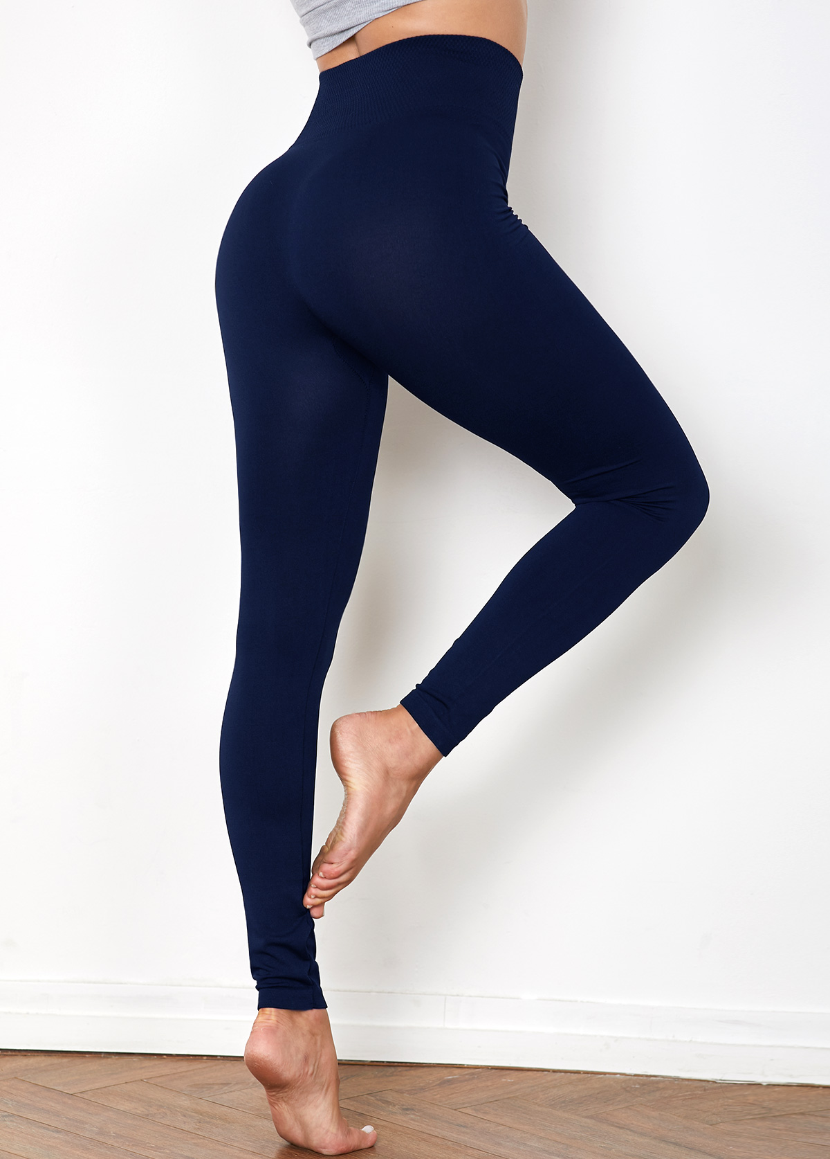 Navy High Waist Super Elastic Legging