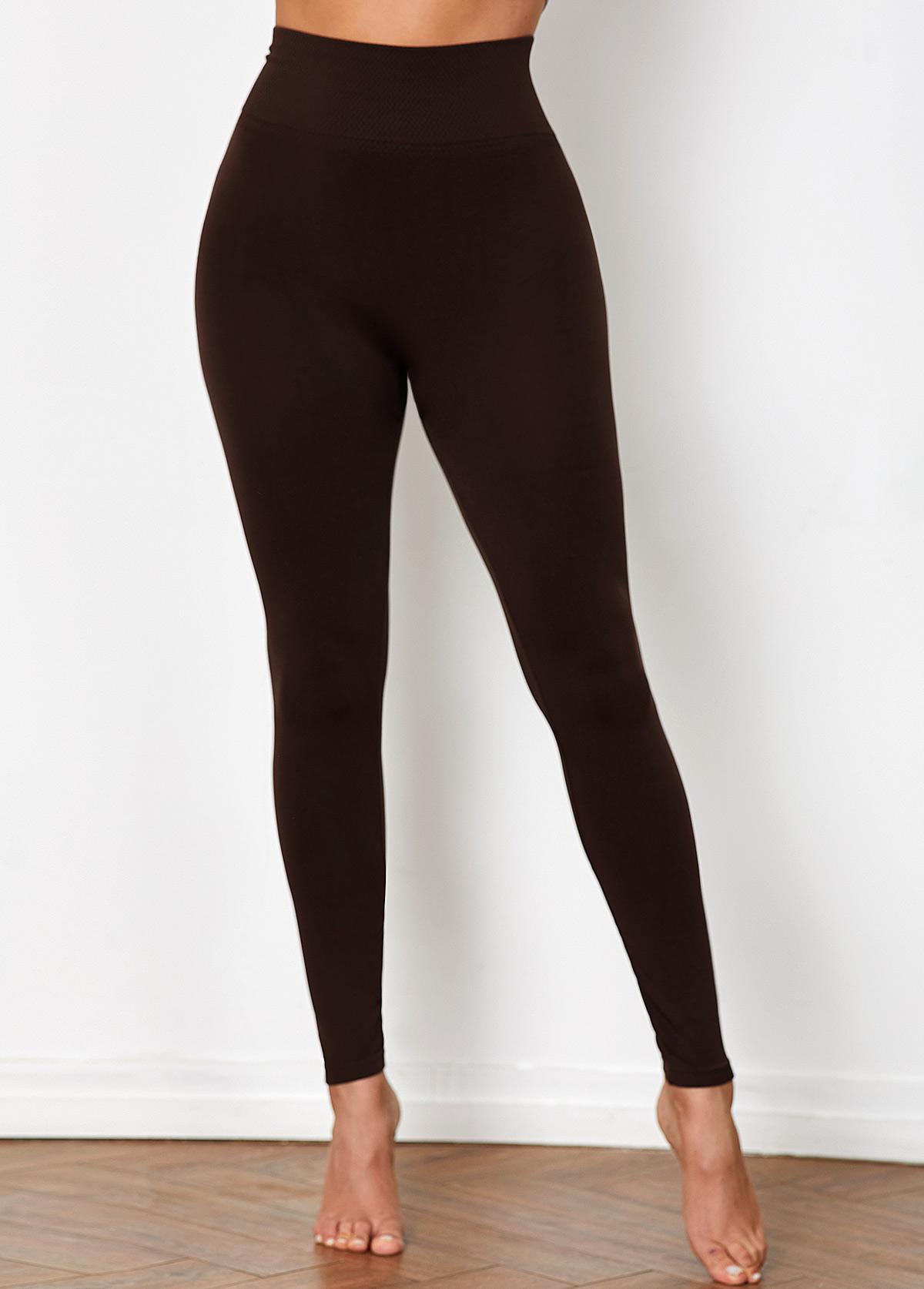 High Waist Super Elastic Brown Legging