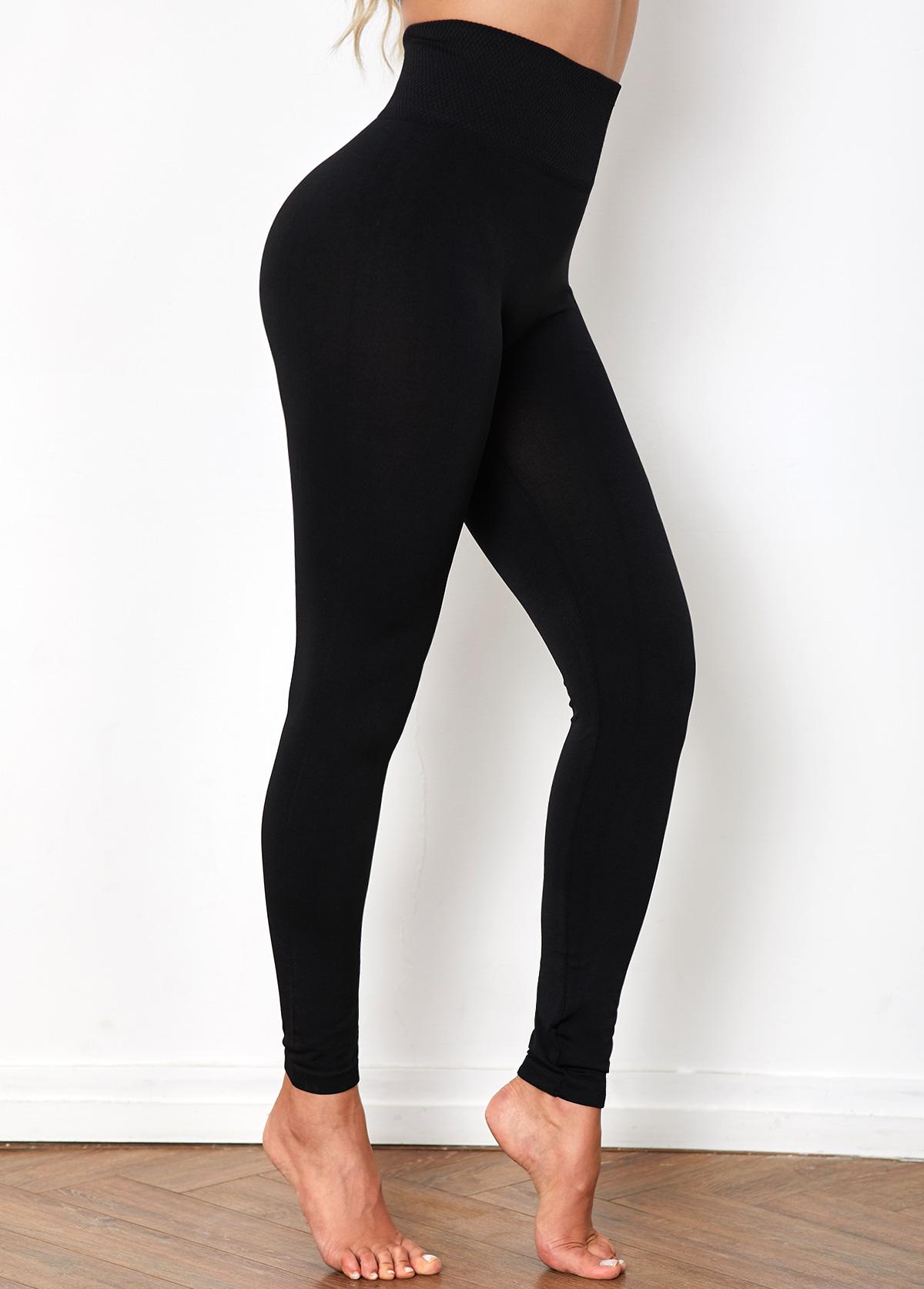 High Waist Super Elastic Black Legging