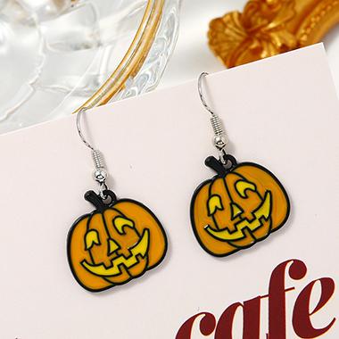 Halloween Pumpkin Yellow Earring Set