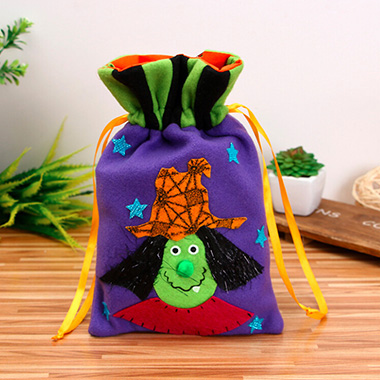 Halloween Velvet Drawstring Purple Candy Bag