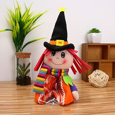 1pc 13 X 27cm Orange Halloween Candy Bag