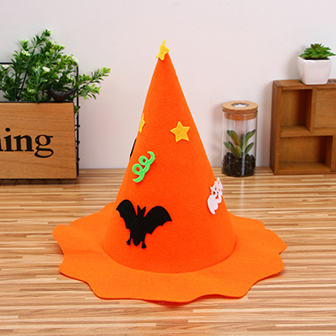 35 X 36cm Halloween Design Orange Hat