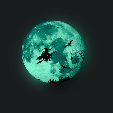 1pc 30 X 30cm Witch Pattern Halloween Wall Sticker