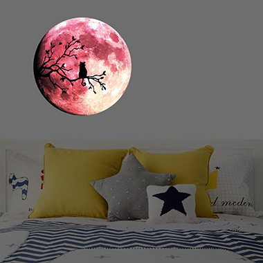1pc 30 X 30cm Halloween Moon Pattern Wall Sticker