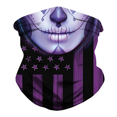 1pc American Flag Print Purple Bandana