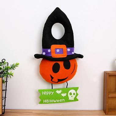 Halloween Orange Velvet Window Ornament