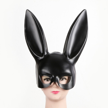Black Rabbit Ear Halloween Eye Mask