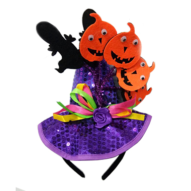 Purple Velvet Cute Halloween Headband