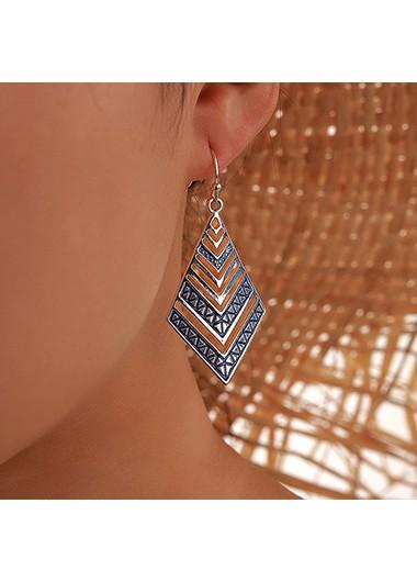 Earring | Design | Metal | Blue | Set